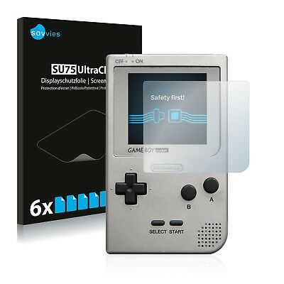 6x Savvies Screen Protector for Nintendo Gameboy Pocket Ultra Clear