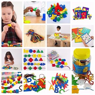 Early Years Threading Lacing Buttons Nuts and Bolt Educational Motor Skills SEN
