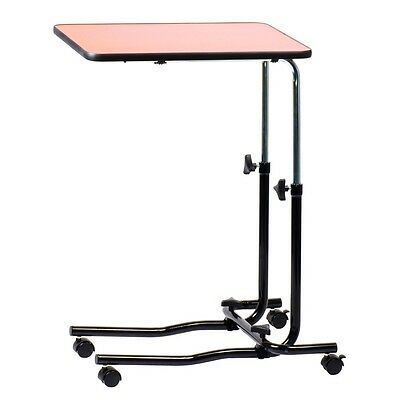 Viva Medi Height & Angle Adjustable Over Bed Table with Four Wheels