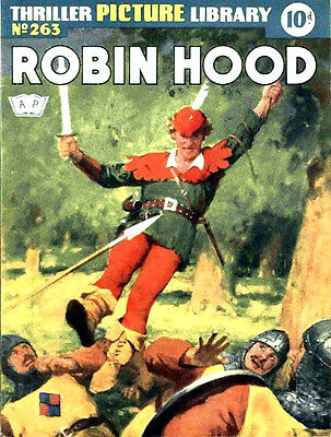 THRILLER PICTURE LIBRARY No.263 ROBIN HOOD  Facsimile 68 page Comic