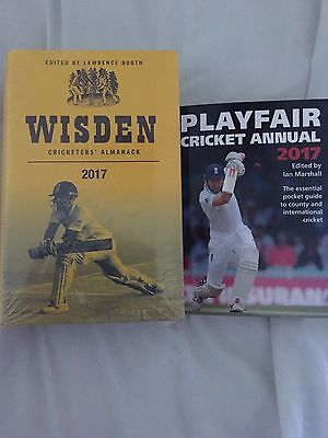 wisden cricketers Almanack 2017 Hardback and playfair cricket 2017