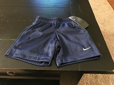 Nike Boy's Toddler Athletic Mesh Shorts Navy Blue 766650 Size 2T NWT