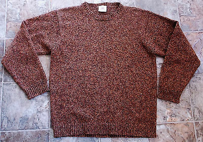Bonner Of Ireland Men's Tweed Crewneck Sweater Merino Wool Cashmere Blend Medium