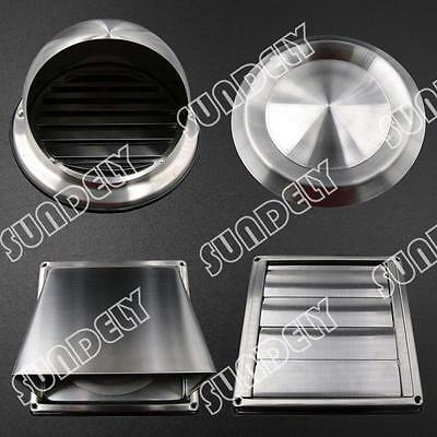 100 125 150mm Stainless Steel Wall Air Vent Metal Cover Outlet Exhaust Grille