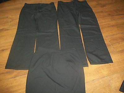 GIRL'S SCHOOL UNIFORM 2 x TROUSERS AND SKIRT AGE 12 YEARS