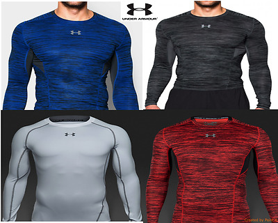 New Men's Under Armour HeatGear Armour Long Sleeve Compression Shirt All Colors