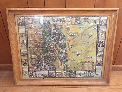 Historical Map Of Colorado Framed