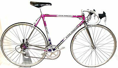 53 cm '94 COLNAGO ELEGANT DECOR CAMPAGNOLO RECORD TANGE PRESTIGE STEEL ROAD BIKE