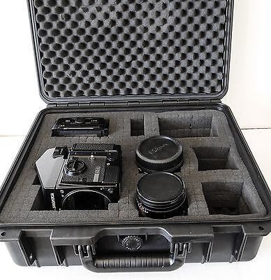Bronica GS-1 6x7 Camera Outfit Includes 2 Film Backs, Prism, 100mm,150mm & Case