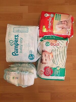 mixed brand nappies size 5+ and 6