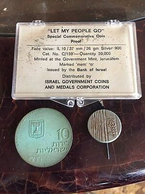 "Israel 1971 ""Let My People Go"" Silver Coin Set Original Box Set"