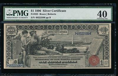 AC Fr 225 1896 $1 Silver Certificate EDUCATIONAL PMG 40 comment