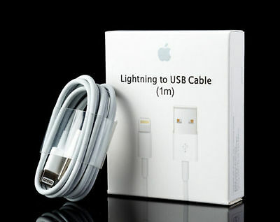 100% OEM 1m Lightning USB Cable Apple iPhone 6s Plus 6 5s Data Sync Charger Box