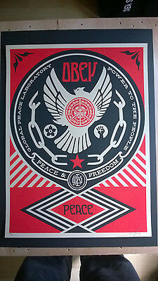 "Shepard Fairey ""Peace and Freedom Dove""  2014, Ed. 450"