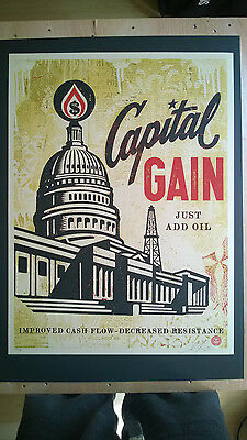 "Shepard Fairey ""CAPITAL GAIN""  2015, Ed. 450"