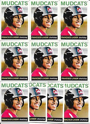 Lot of 10 2013 Topps Heritage Minor League Francisco Lindor Rookie Cards!