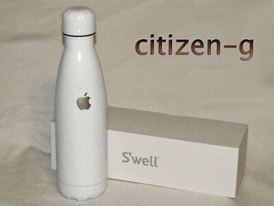 New APPLE Inc. S'well Insulated Bottle 17oz. White with Gold Logo: Employee Exc.