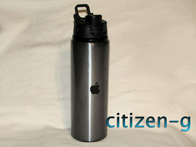 New APPLE Inc. Aluminum Water Bottle 24 oz. Space Gray with Black Logo. Employee