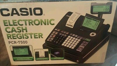 Casio PCR-T500 Electronic Cash Register...barely used. 6pk office Depot thermal