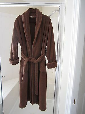 Green Robes Women's  Organic Turkish Cotton Shawl Cocoa Brown Bathrobe Size S/m