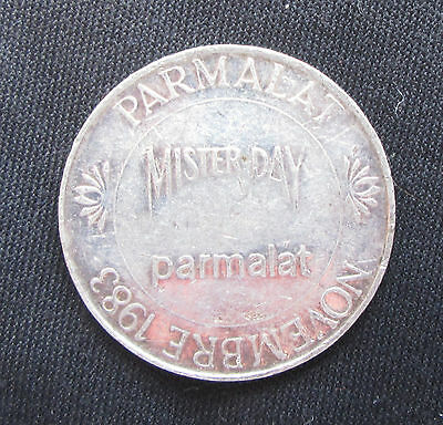 Silver medal commemorating Mister Day Parmalat