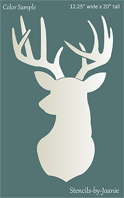"Rustic Animal Stencil Deer 20"" Head Buck Antler Rack Hunt Lodge Art Cabin Signs"