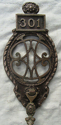 Vintage Door Knocker Solid Bronze Circa 1920