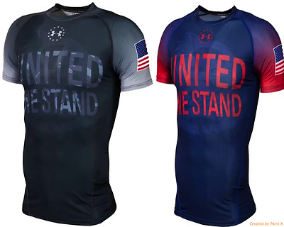 Under Armour HeatGEAR Freedom USA United We Stand Compression Shirt All Size
