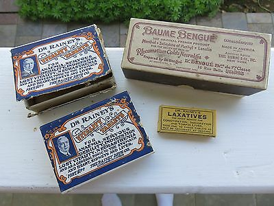 Lot of (4) Antique Medical Pill Boxes