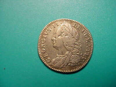 British~Silver 1757 6-Pence in Very Nice Condition!