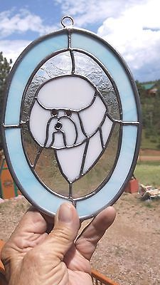 BICHON FRISE -  Original Design Stained Glass by Ingrid Jonsson