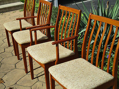 Tremendous 4 Danish Mid Century Modern Vintage Teak Dining Chairs By Beatyapartments Chair Design Images Beatyapartmentscom