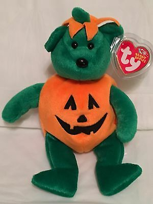 TY Beanie Baby - TRICKY the Halloween Bear - Pristine with Mint Tags - RETIRED