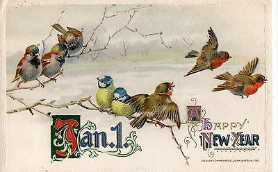 Early 1900's Winsch / New Year / Christmas  Postcard - Selling Lot Of Cards