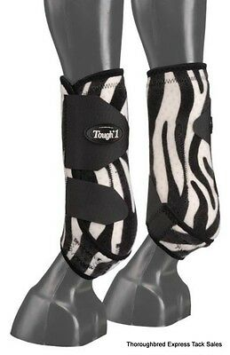 Zebra Print Extreme Vented Neoprene Size Small Rear Sport Boots Horse Tack