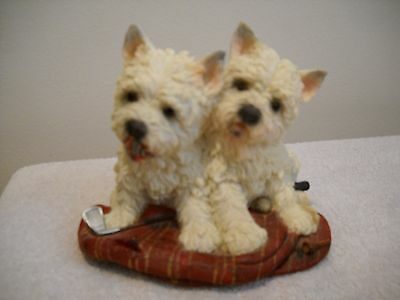 Pair of West Highland Terriers 2004 Figurine By Gift Link