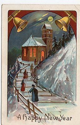 Early 1900's New Year / Christmas  Postcard - Selling Lot Of Cards