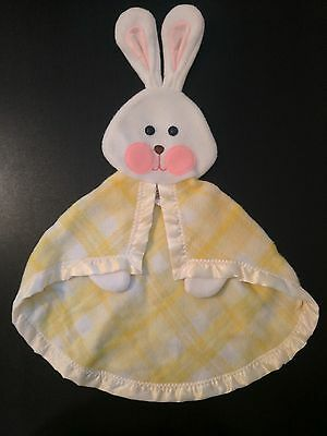 Vintage 1979 Fisher Price Yellow Security Bunny Blanket 442 443