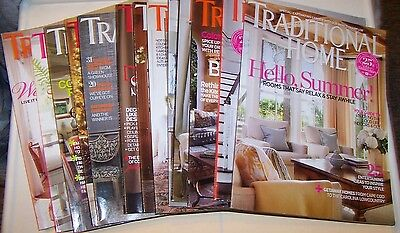 magazine lot Home decor Traditional Home Issues from 2008-2014