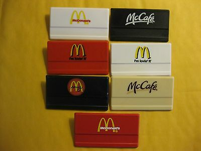 (7) different McDONALDS employee Name Tags Crew Badges! Collectors lot!!