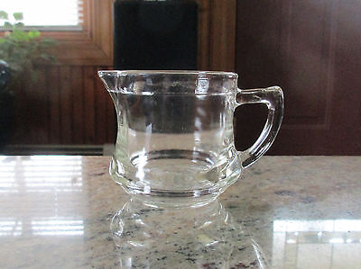 "Vintage Kellogg's Promotional ""Perfect Cereal Creamer"" Clear Glass Pitcher"