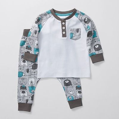 NEW Baby Sleeping Bear Jersey Pyjama Set
