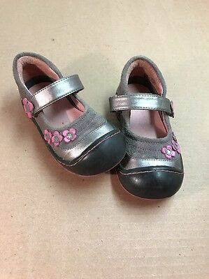 Jumping Jacks Perfection Gray Pink Mary Janes Toddler Girls' Shoes Size 9.5M