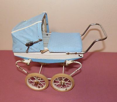 Antique Victorian Doucet Doll Baby Buggy Pram Carriage, France