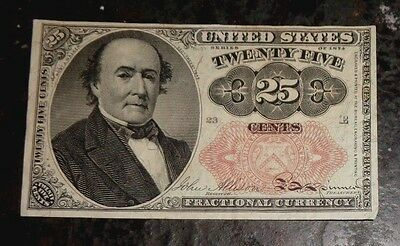 US Fractional currency bank note 25c 1874 mint
