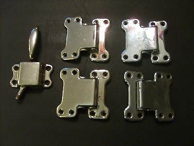 Vintage Ice Box Hardware  Four Hinges and Door Latch