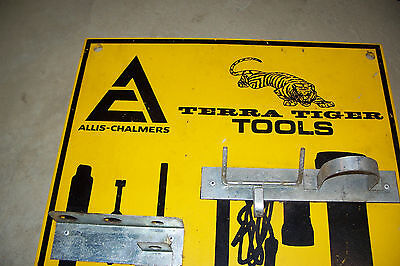 Allis Chalmers Terra Tiger ATV Tool Rack - Ultra Rare Tractor Dealership Sign