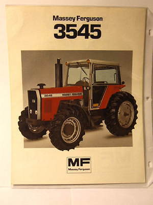 TWO Massey Ferguson  3545 Brochures - 2-WD and 4-WD