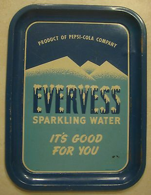 "Vintage ""Evervess Sparkling Water"" advertising tray - a PEPSI product"