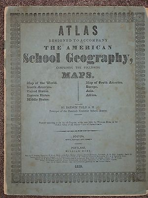 1839 Asia Map William Hyde Antique Original Barnum Field Geography Atlas